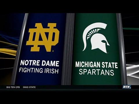 Notre Dame at Michigan State - Football Highlights