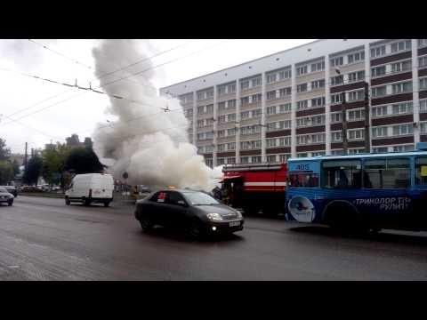 Пожар 31.08.2015 на пр. Ленина, в городе Иваново