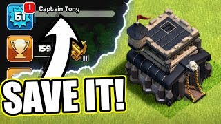 CAN WE SAVE MY ACCOUNT!? - Clash Of Clans - SAVING TOWN HALL 9!