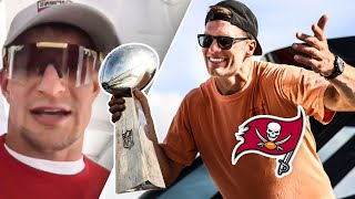 Tom Brady THROWS Super Bowl Trophy At Bucs Parade!? Behind The Scenes With Gronk & Tristan Wirfs!