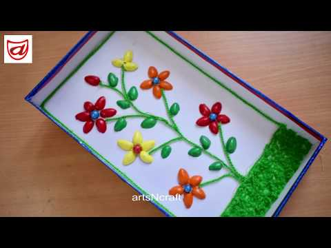 DIY Home decor craft from Pistachio Shells and waste Sweet box | Pista Shell Crafts idea