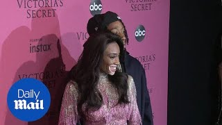 Winnie Harlow gets close to Wiz Khalifa at VS afterparty