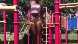 Girl spins around like a spinning chicken - Ultimate fail video - Funny video