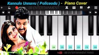 En jeevan song| Kannulo Unnavu - Policeodu | Piano Cover #Vijay#Samanth
