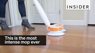 Your floor would love this electronic spin mop and polisher