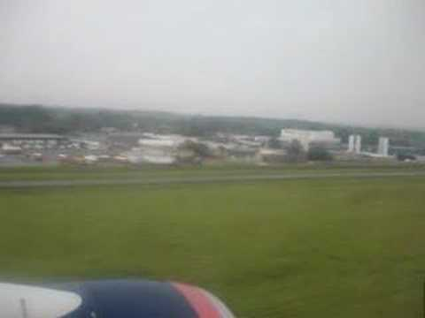 Landing in Port Columbus International Airport, Ohio.
