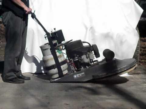 whirlamatic pro 27 propane floor buffer burnisher machine - youtube