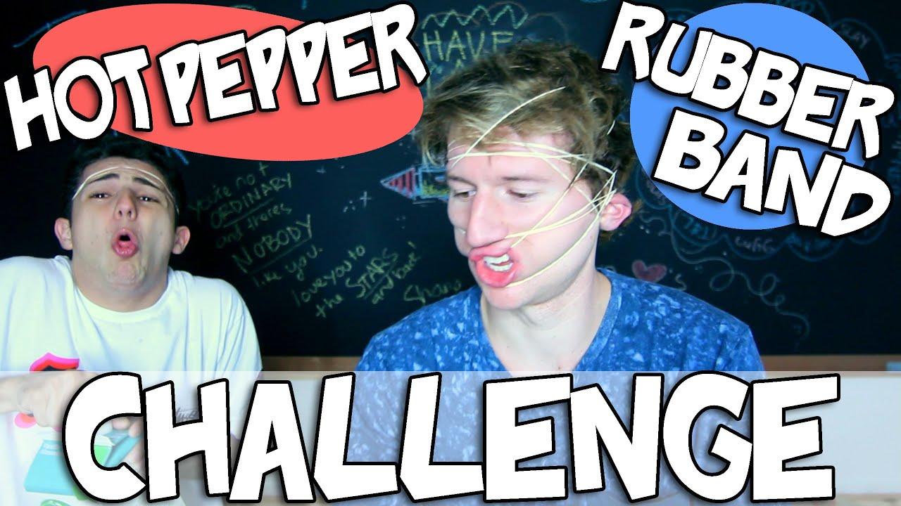 HOT PEPPER RUBBER BAND CHALLENGE GONE WRONG w/ TWAIMZ - YouTube