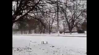 Зима в місті та аварія біля АТБ