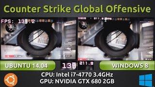 Ubuntu 14.04 VS Windows 8 : Counter Strike Global Offensive with a GTX 680