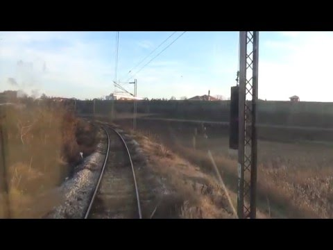 Train Driver's view: railroad in Serbia from Niš ranzirna to Niš - SERBIAN RAILWAYS