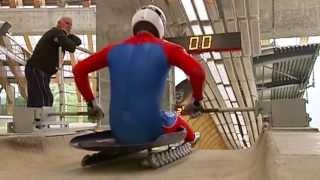 Летние сборы саночников на олимпийском треке «Санки» (Сочи, Олимпстрой)