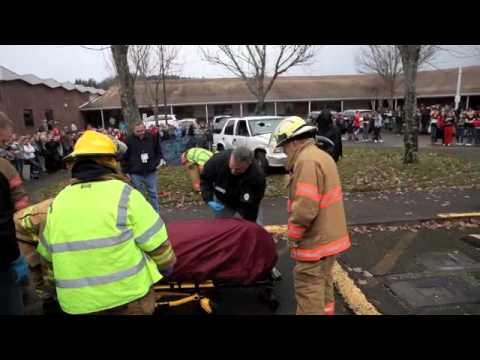Tenino High School Target Zero mock crash offers sobering message