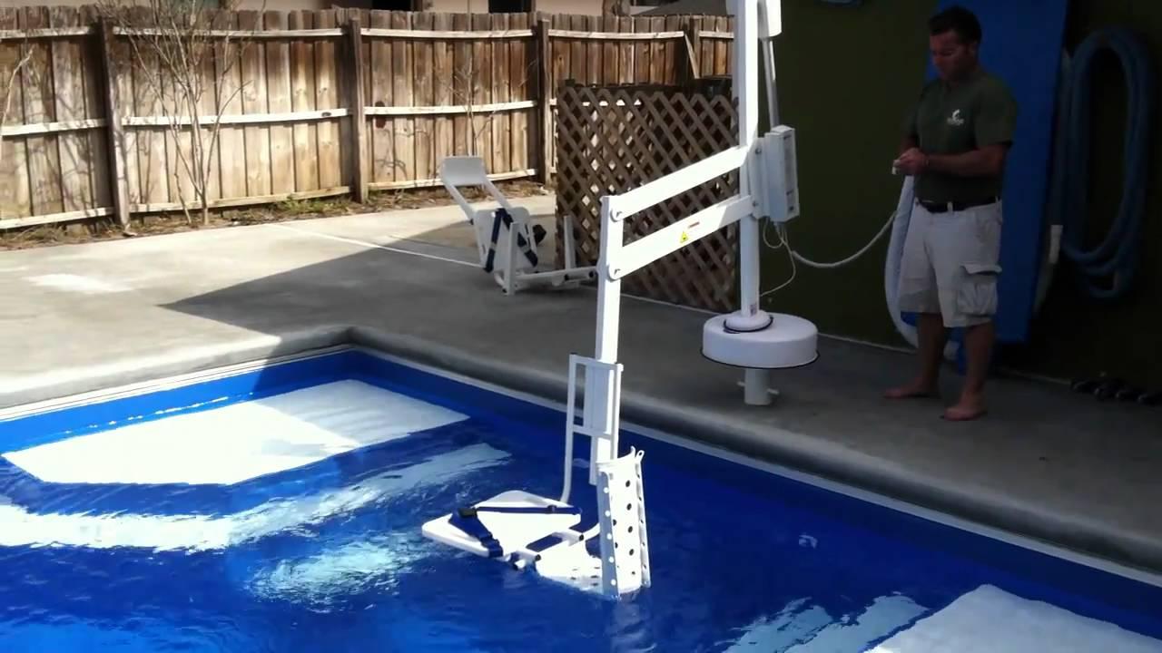 Fiberglass Swimming Pool San Juan Handicapped Access Lift Sr Smith Youtube