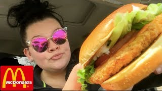 They Snorted Crack infront of me | McDonalds Buffalo Chicken Sandwich Mukbang