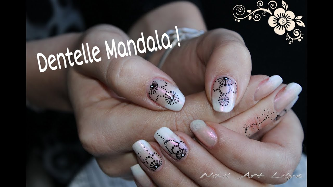 Nail art Dentelle Mandala - YouTube
