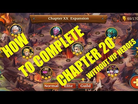 Heroes Charge : Chapter 20 normal : Full Walkthrough NO VIP Heroes
