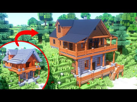 I Transformed This Simple Minecraft House In INSANE Detail