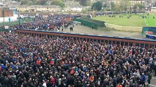 Rangers fans leaving Murrayfield