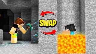 Minecraft But We RANDOMLY SWAP Positions!