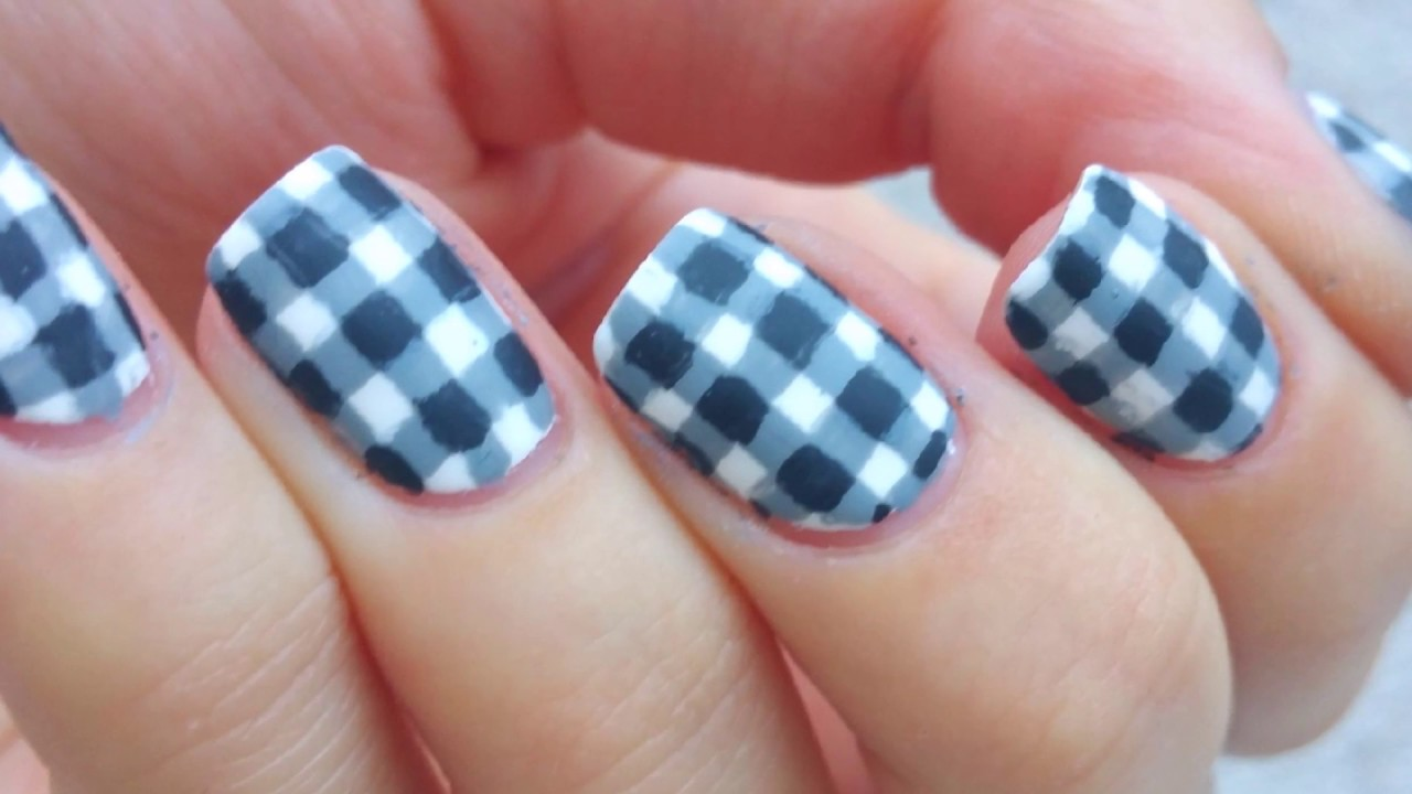 Plaid nail art youtube plaid nail art prinsesfo Choice Image