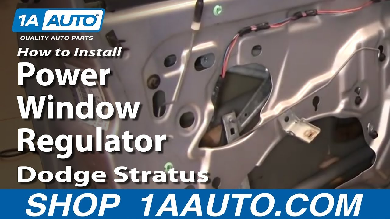 How To Install Replace Power Window Regulator Dodge Stratus 0106 – Dodge Dakota Window Switch Wiring