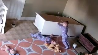 2-year-old saves twin trapped under toppled dresser