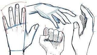 Как рисовать РУКИ и ПОЗЫ РУК!(
