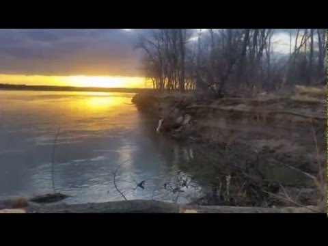 North DAKOTA Sunset Missouri River 2015