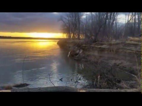 North DAKOTA Sunset Missouri River 2015