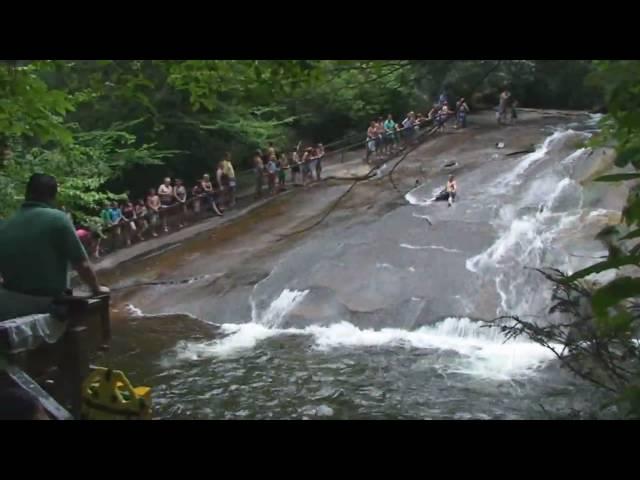 Sliding Down a Waterfall - video by WaterfallRich