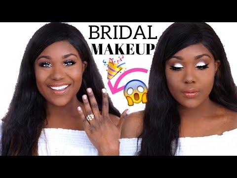 BRIDAL MAKEUP TUTORIAL I Wedding / Prom Makeup Tutorial 2018 (WOC Brown Dark Skin) - Rose Kimberly - 동영상