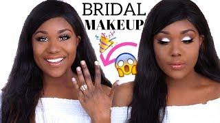 BRIDAL MAKEUP TUTORIAL I Wedding / Prom Makeup Tutorial 2018 (WOC Brown Dark Skin) - Rose Kimberly