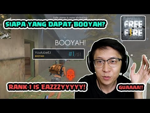 RANK 1 AKHIRNya!! BOOYAHHH! EASY EASY Game! - Free Fire Indonesia