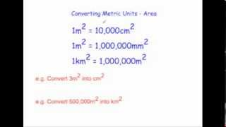 Converting Metric Units of Area