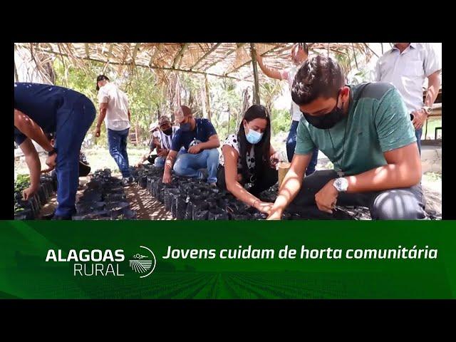 Jovens cuidam de horta comunitária e viveiro de mudas em Matriz de Camaragibe