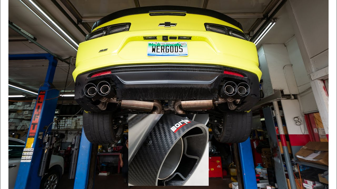Camaro gets Carbon Fiber Borla S Type exhaust ***DEEP and LOUD***