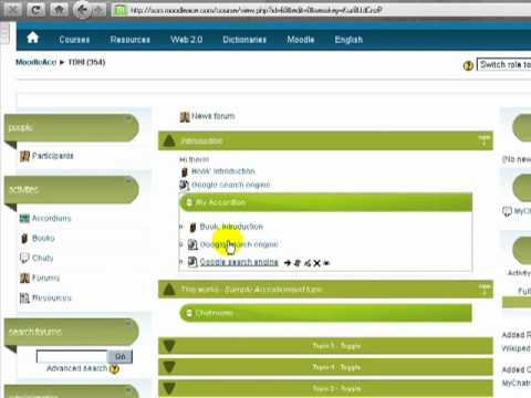 Add activities, Moodle resources inside the Accordion Resource Editor  (Moodle 1 9 hack)