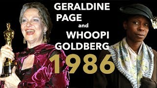 Geraldine Page Wins an Oscar, The Color Purple Doesn't