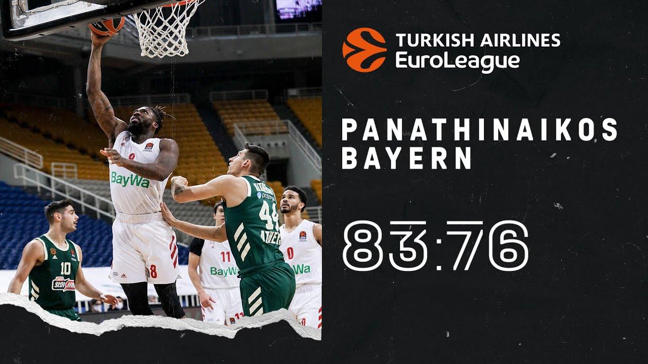 Bayern Highlights | Panathinaikos Athen vs. FC Bayern Basketball 83:76 | EuroLeague
