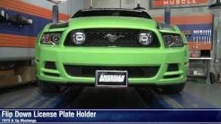 Mustang Flip Down License Plate Holder - Motorized And Manual (79-14 All) Review