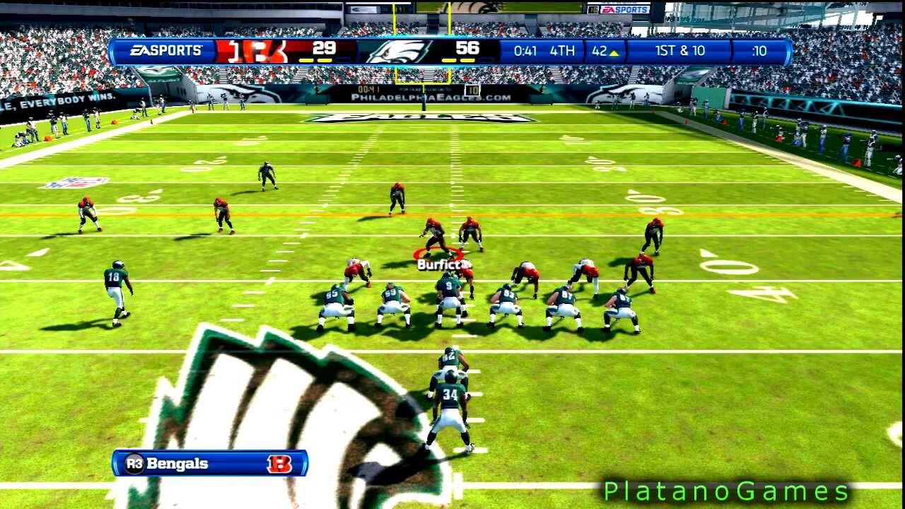 NFL 2012 TNF Wk 15 – Cincinnati Bengals (7-6) vs Philadelphia Eagles (4-9) 4th Qrt – Madden 13 – HD
