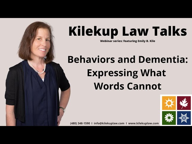 Behaviors and Dementia: Expressing What Words Cannot