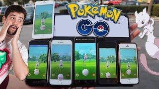 ¿¡Cuántos MEWTWO capturará!? INCURSIÓN EX con 6 MÓVILES a la vez en Pokémon GO!!! [Keibron]