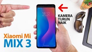 Buka Box XIAOMI MI MIX 3 Indonesia, Kamera Naik Turun