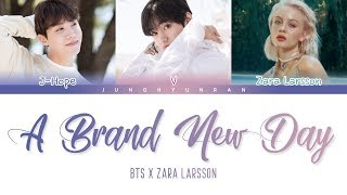 Gambar cover BTS x Zara Larsson - A Brand New Day (BTS WORLD OST Part.2) 「Color Coded Lyrics_Han/Rom/Eng」
