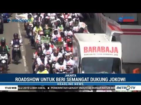 "Dukung Jokowi, Relawan ""Energy 01"" Roadshow Keliling Kota Jakarta"