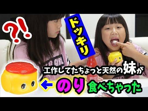 【ドッキリ】小学生の妹が「フエキのり」を食べちゃった?!姉はどうする??【文房具ドッキリ】【しほりみチャンネル】