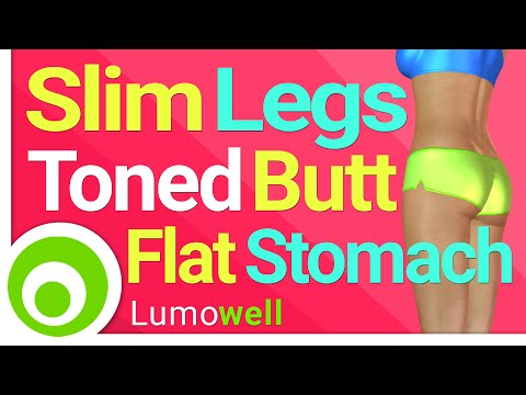Slim Legs, Toned Butt and Flat Stomach | 25 Minute Workout at Home