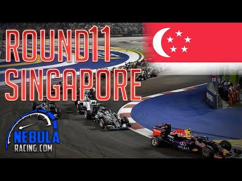 Nebula rFactor F1 2015 | Full Race Highlights | Singapore Grand Prix